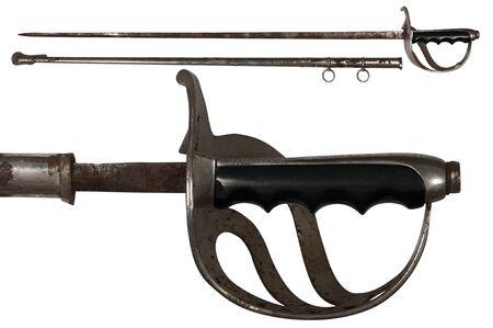 schwertscheide: alten rostigen Schwert isoliert auf wei� Lizenzfreie Bilder