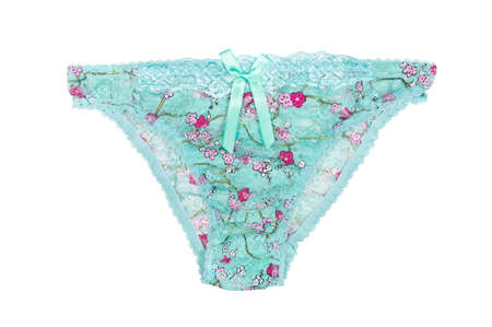 lace panties: female lace panties with a pattern isolated