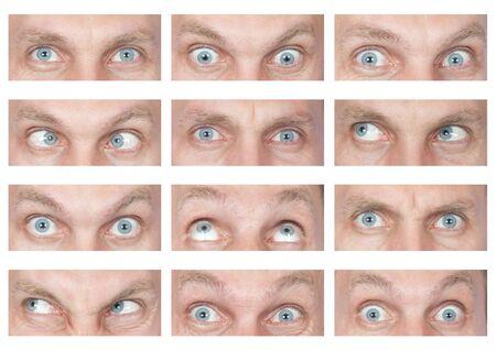 evil eyes: Set of evil eyes with different emotions