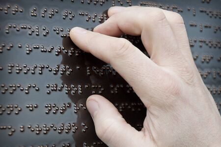 braille: part of the text on Braille tactile fonts