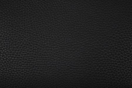 part of black leather texture closeup Stock Photo