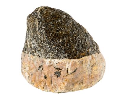 granite: Granite rock stone. Granite stone isolated over the white background