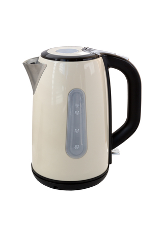 appliances: Kettle isolated on a white background. Modern electric kettle.