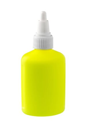 Bottle of Glue with Copy Space Isolated on White Background. Stock fotó