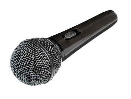 Microphone isolated on white background. Wireless mic. Speaker concept. Standard-Bild