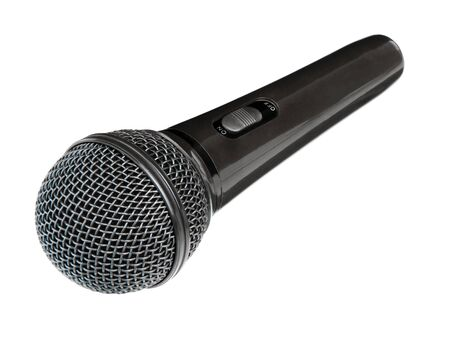 Microphone isolated on white background. Wireless mic. Speaker concept. Фото со стока