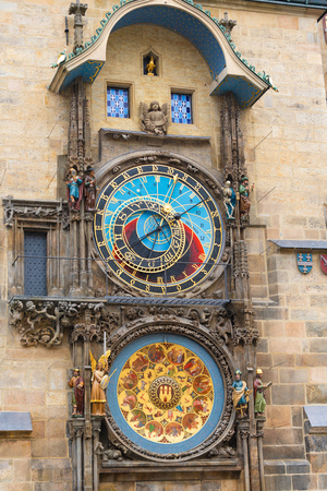 Prague Astronomical Clock close up view. The clock was taken down for reconstruction 写真素材