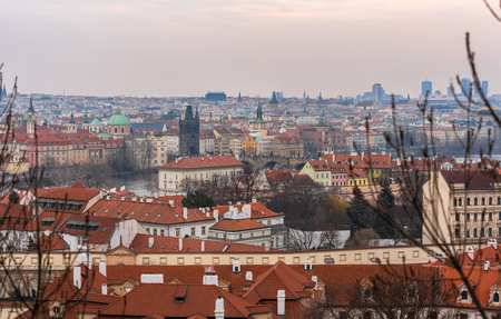 View of Prague the capital and largest city in the Czech Republic and historical capital of the Kingdom of Bohemia.