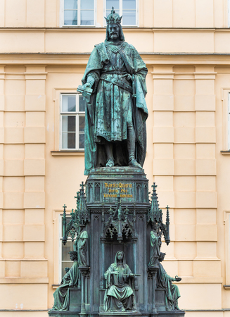 Bronze statue of the Czech King of Bohemia