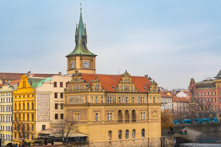 Czech Republic. Bedrich Smetana Museum, situated in the centre of Prague in a small block of buildings right next to Charles Bridge on the right bank of the river Vltava in the Old Town. 報道画像