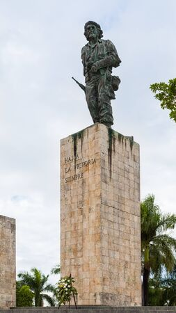 Santa Clara, Cuba-14 October, 2016. Bronze statue of Che Guevara at the Plaza de la Revolution, Mausoleum is resting place of Che Guevara and other fighters.