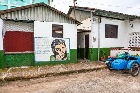 Santa Clara, Cuba-14 October, 2016. House in Santa Clara, Spanish colonial town, the capital city of the Cuban province of Villa Clara and the site of the last battle in the Cuban Revolution. Editorial