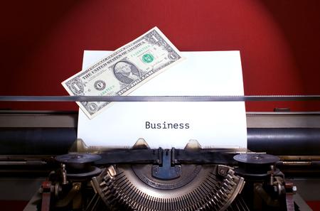 Bisness Guidelines, title heading typewritten on paper on vintage manual typewriter machine 스톡 콘텐츠 - 124550750