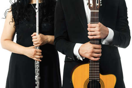A classic guitar and flute duet concept