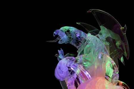 Ice griffin, with multicolor lighting