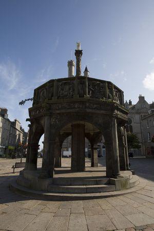 アバディーン、イギリス中部の町、古い構造 写真素材