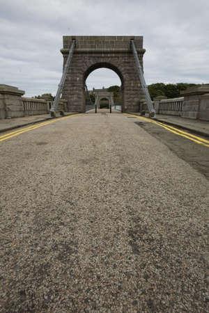 Getting close to Wellington suspension bridge, Aberdeen, UK