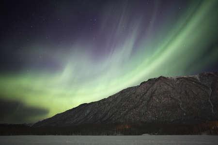 Northern Lights over Mirror Lake in Alaska