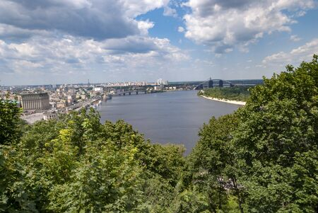 Dnipro river. Kyiv