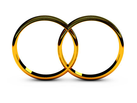 two wedding rings symbol of love and loyalty Stock Photo - 23558733