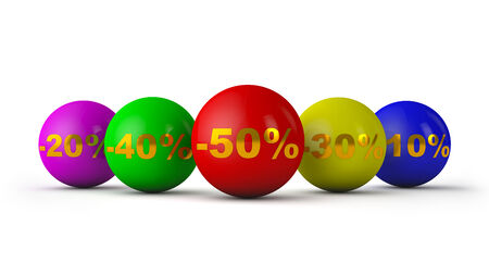 colored balloons bring discounts photo