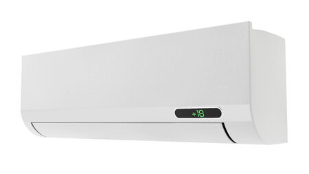 wall unit air conditioner on a white background