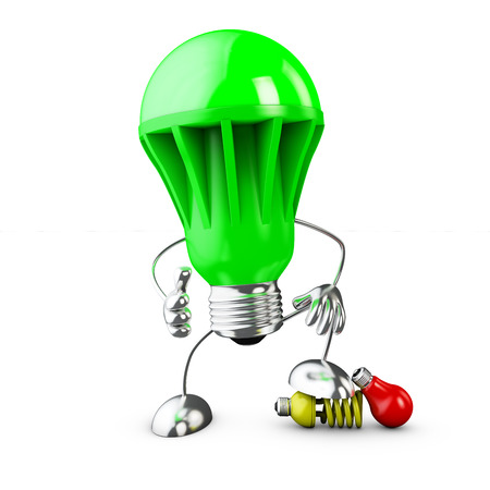 LED bulb lamp  pressing older technologies-3d render Standard-Bild