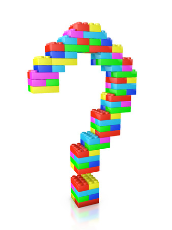 block: question mark made of blocks construction toy