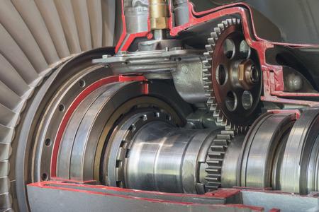 turbo: Detailed exposure of a turbo jet engine.