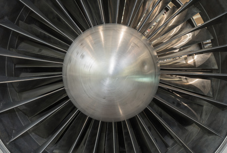 turbine engine: Airplane Jet gas turbine engine detail