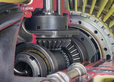 Szczegółowy ekspozycji turbo silnik odrzutowy.