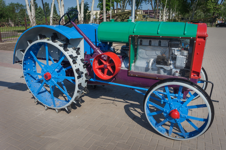 traction engine: restored vintage tractor of the last century