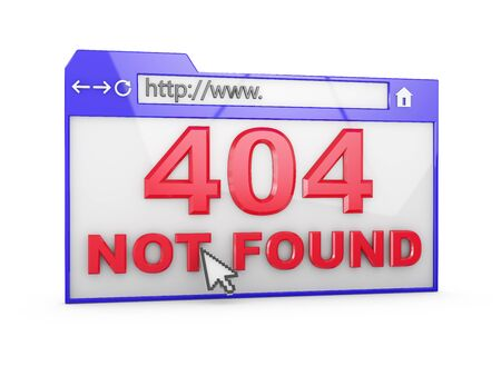 Internet browser with the inscription - 404 Not Found