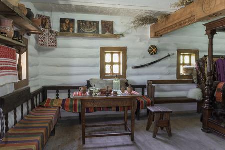 cossacks: Ukrainian vintage interior in the style of farm Cossacks Editorial