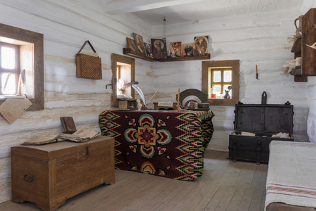 cossacks: Ukrainian vintage interior in the style of farm Cossacks Stock Photo