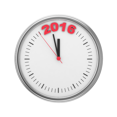 imminent: hour hands indicate imminent offensive in 2016 Stock Photo