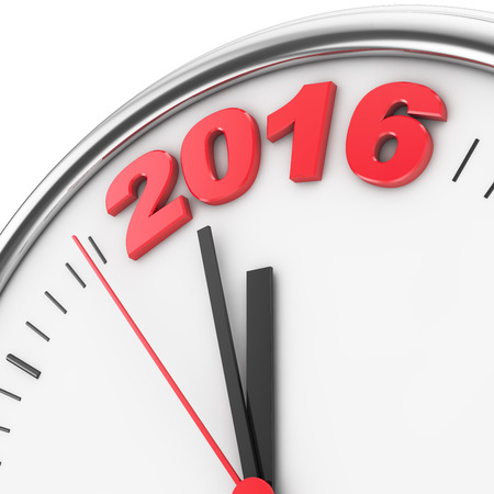 offensive: hour hands indicate imminent offensive in 2016 Stock Photo