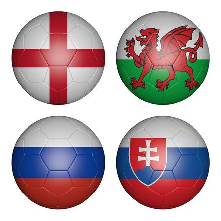 group b: balls with flags of the  Championship, group b