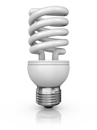 halogen lighting: energy saving lamp on a white background Stock Photo