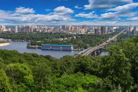 View of the city of Kiev and the Dnieper River