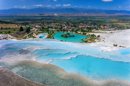 View of the calcareous minerals in Pamukkale Stock fotó - 81523464