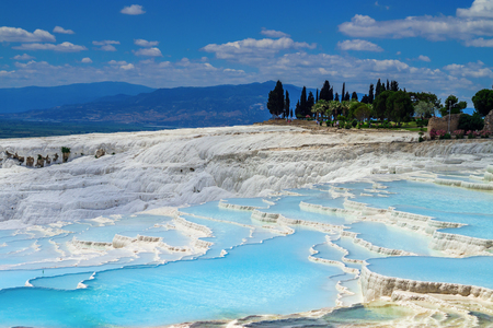 View of the calcareous minerals in Pamukkale
