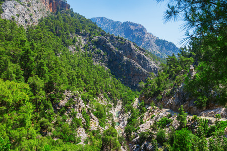 View of the canyon yolu in the mountains near the Goynuk