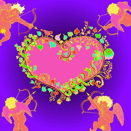 fig leaf: valentines day cupids arrow, arrows of cupid