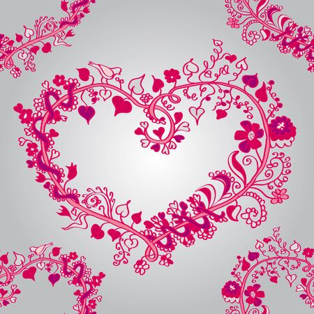 a sense of: heart valentines day, love, sense, pattern, vegetable elements