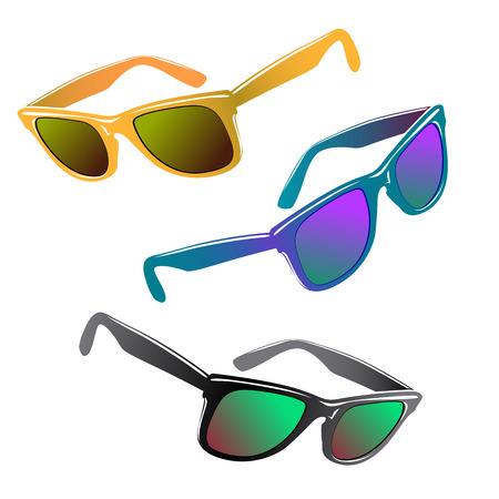 Hipster sunglasses set