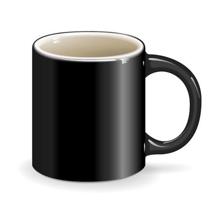 ceramic: taza negro beber objeto de cer�mica