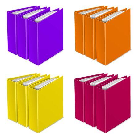 organizing: folder color icon organizing graphic