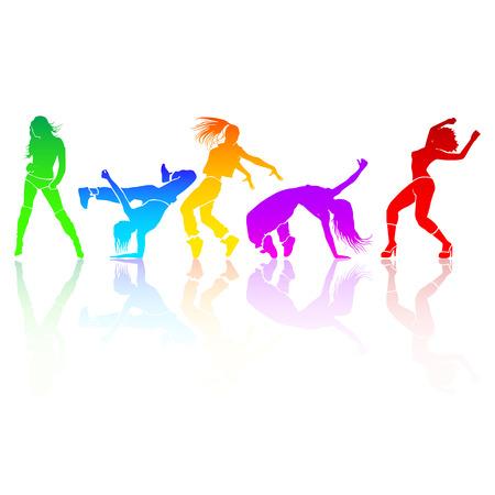 girl dance energy motion