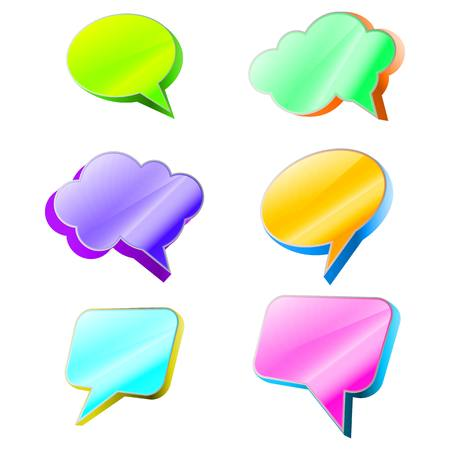 socialize: Most common used acronyms and abbreviations on multicolored speech bubbles